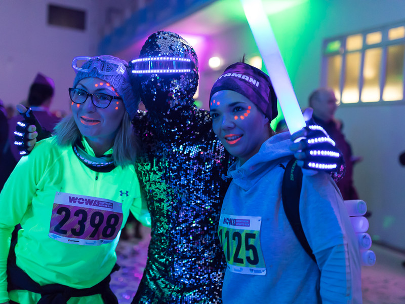 Colorful participants